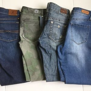 Women's Jeans Bundle of 4 Guess Lucky Brand